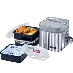 Lock & Lock Picnic Lunch Box Bento Set - HPL856DG, Gray (Large)