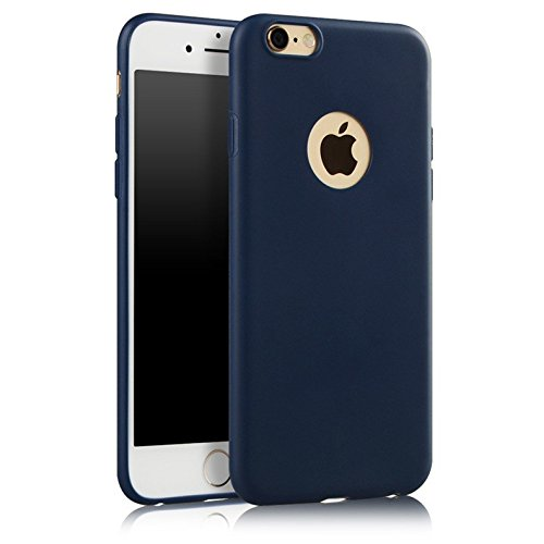 Egotude-Soft-Silicone-Slim-Back-Cover-Case-for-Apple-iPhone-6S-6-Dark-Navy-Blue