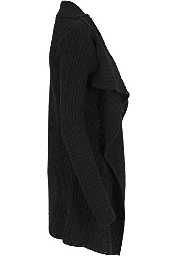 Urban Classics - Mantel Knitted Long Cape, Giubbotto Donna, Nero (Schwarz), Small (Taglia Produttore: Small)