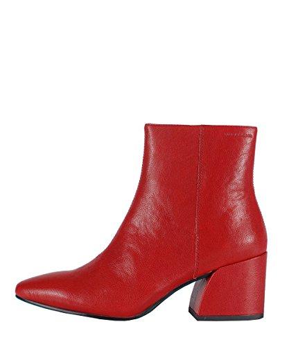Vagabond Olivia Boots Red - Stivaletti Da Donna Rossi In Pelle