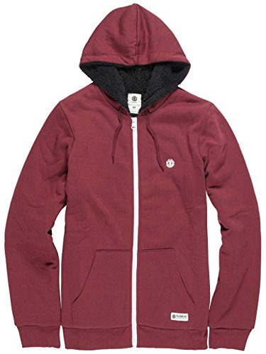 Element -  Felpa con cappuccio  - Casual - Uomo oxblood red M