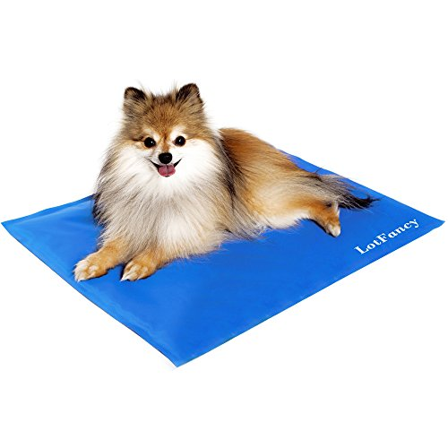 LotFancy Pet Dog Cool Pad Gel Mat for Dogs Cats Beds Crates Kennels, in Car or at Home, Self-Cooling (11.8 x 15.7 Inch)
