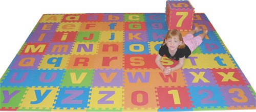 Cheap We Sell Mats Uppercase and Lowercase 72 Sq. Ft. 'We Sell Mats' Alphabet and Number Floor Puzzle-Each Tile 12″x12″x3/8″ Thick with Borders (B00147VX5Y)