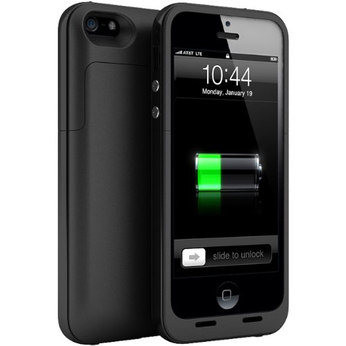 Maxboost Defender Air External Protective iPhone 5 Battery Case - Matte Black , Fits All Versions of iPhone 5 - Lightning Connector Output, MicroUSB Input
