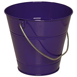 Purple small colorful metal pail buckets 36 for Tiny metal buckets