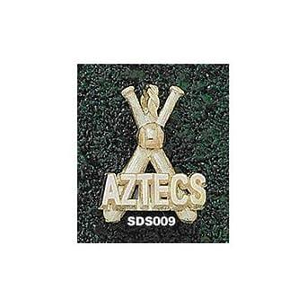 San Diego State Aztecs Aztecs Baseball Bats Pendant - 14KT Gold Jewelry by Logo Art