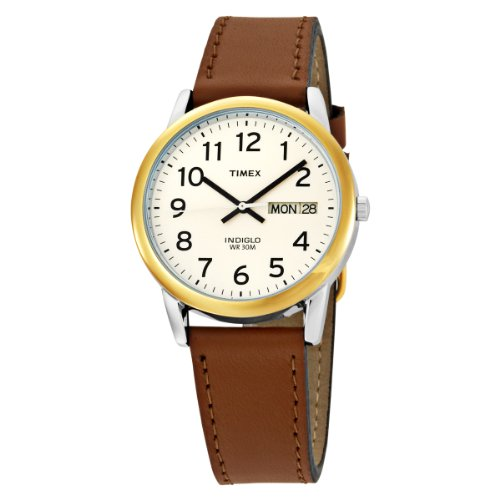 Timex Men's T20011 Easy Reader Brown Leather Strap Watch