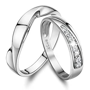 personalized name his and promise rings