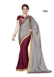 Myraa designer sizzling heavy embroided saree With Unstitched Blouse