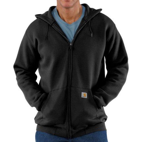 Carhartt Midweight Hooded Zip Front Sweatshirt Black M,L,XL,XXL Mens