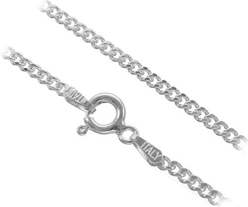 2.0mm Italian Sterling Silver Cuban Curb Chain (22