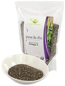 Graines de Chia Bio OMEGA3 - 1 Sachet de 300 g - Graines de Chia Bio OMEGA3