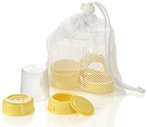 MEDELA BREASTMILK BOTTLE SPARE PARTS 3 TRAVEL CAPS/ 3 COLLARS/ 3 DISCS/ & 3 LIDS #87165 (Medela Pump In Style Advanced Car compare prices)