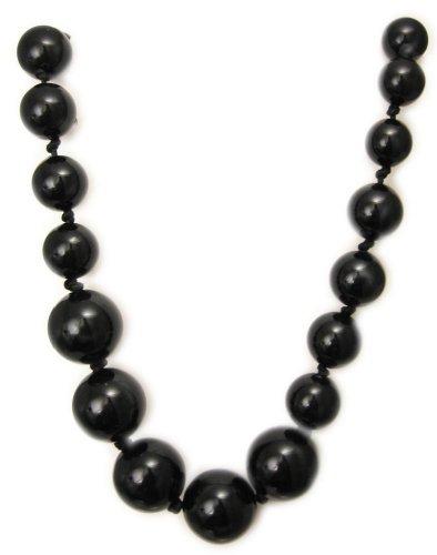 AM2034 - Long Black Graduated Bead necklace ( 85cm)