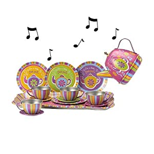 Durable Musical Tin Tea Set