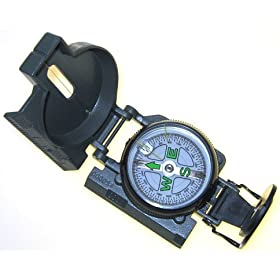 Military Style Lensatic Marching Compass With Pouch
