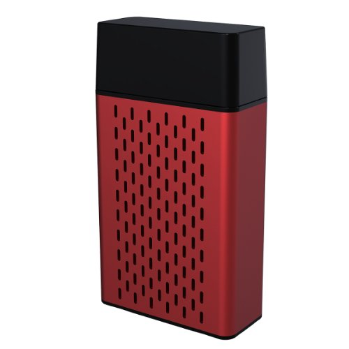 Hype Aluminum Bluetooth Portable Speaker For Iphone 5S Ipad Air/Mini,Samsung Galaxy S5/S4/Note And Tablets - Retail Packaging - Red