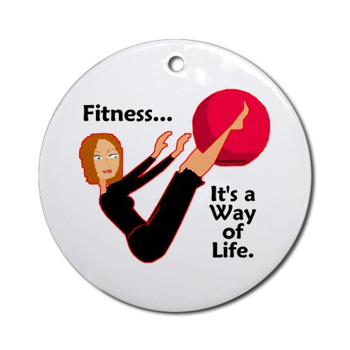 CafePress - Fitness Ornament - Life - Round Holiday Christmas Ornament