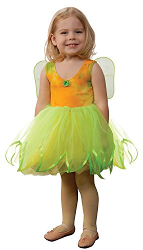 Aeromax Tie Dye Fairy Dress with Attached Wings, Lime Green/Yellow, Size 6/8 - 1