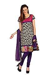 Parchayee Women's Beige Printed Cotton Dress Material