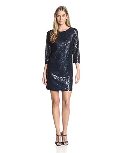 Donna Morgan Women's Sequined Shift Dress