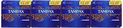 Tampax Super Plus-Tamponi con applicatore, Confezione da 8 x 20 [160 pezzi]