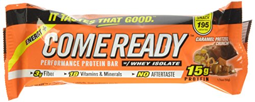 Come Ready Protein Bars, Caramel Pretzel Crunch, Mid Size, 1.76 Ounce (Pack of 12) (Come Ready Protein Bars compare prices)