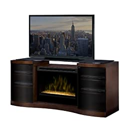 Dimplex Acton 72-inch Electric Fireplace Media Console With Glass Embers - Walnut - Gds33g-1246wal