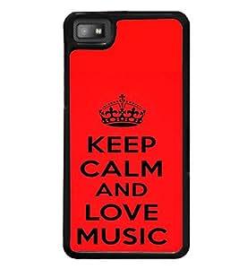 printtech Love Music Back Case Cover for BlackBerry Z10