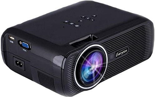 EVERYCOM X7 NEW ARRIVAL LED Projector Home Cinema Theater VGA HD