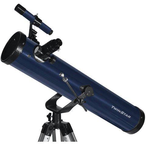 "Blue Twinstar Firststar 3"" Reflector Telescope Kids Pak Bundle"