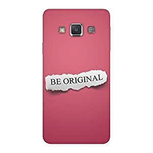 Special Be Orignal Multicolor Back Case Cover for Galaxy A3
