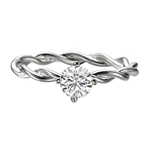 IGI Certified 14k white-gold Round Cut Diamond Engagement Ring (0.39 cttw, E Color, VS1 Clarity)
