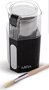 MIRA Electric Spice and Coffee Grinder, Stainless Steel Blades, Removable Cup, Cleaning Brush by Mira Brands