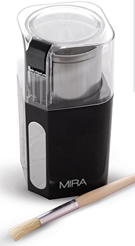 Best Buy! MIRA Electric Spice and Coffee Grinder, Stainless Steel Blades, Removable Cup, Cleaning Br...