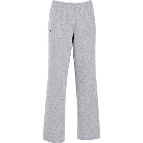 Under Armour Women's UA Team Rival Fleece Pants, True Gray Heather/Black, XLarge