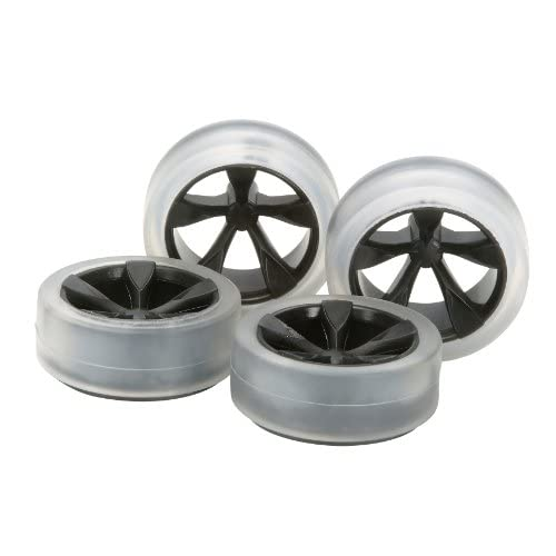 ミニ四駆限定シリーズ ソフトローハイトタイヤ & カーボン強化ホイールセット (5本スポーク) 94896