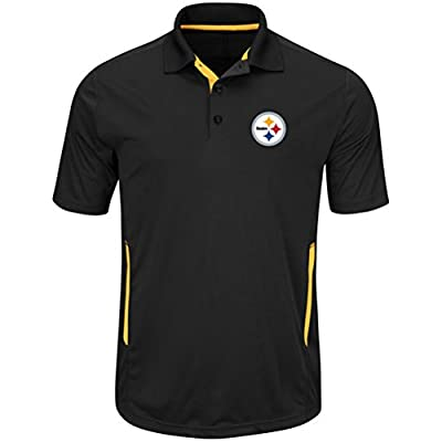Majestic Mens Pittsburgh Steelers Field Polo
