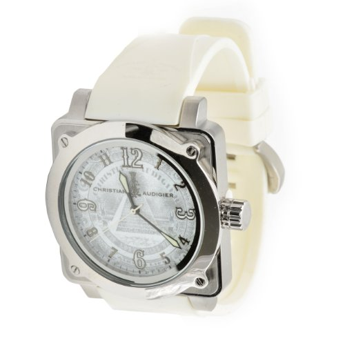 Christian Audigier Fortress Silver Dollar For-216 Silver Dial Watch