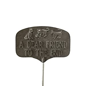 Montague Metal Products Pet Cat Grave Marker, Swedish Iron