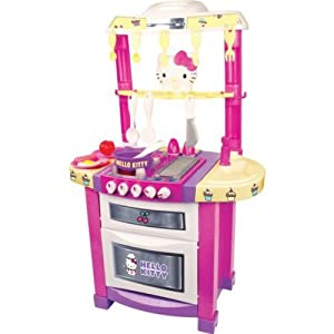 Hello kitty kids 39 play light and sounds electronic kitchen - Cuisine hello kitty ecoiffier ...