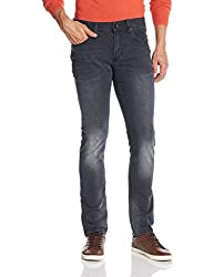 Superdry Men's Slim Fit Jeans (5054265627125_M70003KNF4_34W x 32L_Dusted Black Blue)