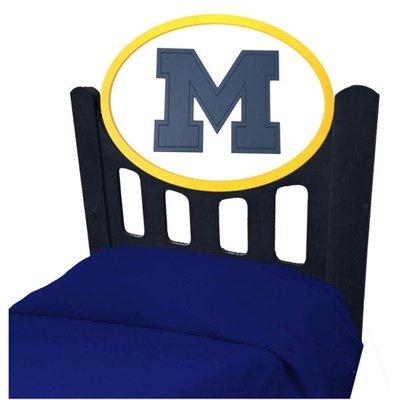 Adventure Furniture C0526B-Michigan University of Michigan Black Headboard- Twin Size