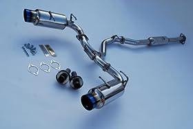 Invidia (HS12SSTGTT) N1 Single Layer Cat-Back Exhaust System with Titanium Tip for Subaru BR-Z/Scion FR-S