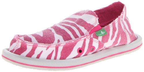 Sanuk I'm Game Shoe - Toddler Girls' Zebra Hot Pink, 12.0