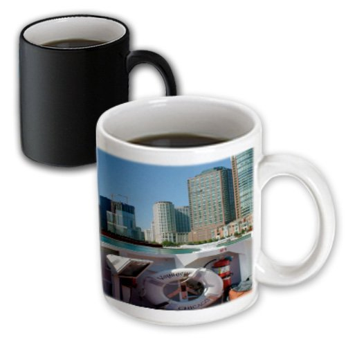 Mug_48297_3 Jos Fauxtographee Realistic - A View From Inside The Boat On The Architectural Tour Of Chicago With The City In The Background - Mugs - 11Oz Magic Transforming Mug