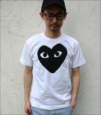 PLAY COMME des GARCONS(プレイコムデギャルソン) 半袖Tシャツ [AZ-T070-051] WHITE 8(XL) [並行輸入品]