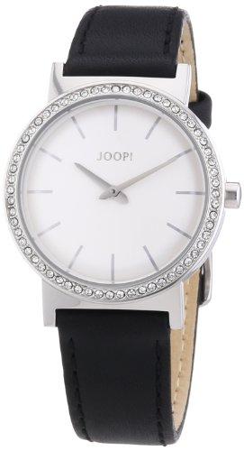 Joop!  Origin Ladies - Reloj de cuarzo para hombre, con correa de cuero, color negro