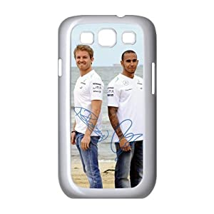 Nico Rosberg Charming Lewis Hamilton signed HD Image Personalized SamSung Galaxy S3 I9300 Hard Plastic case cover
