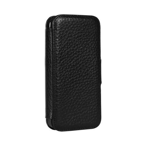 Great Sale Sena 826801 Wallet Book Leather Case for iPhone 5 & 5s - 1 Pack - Retail Packaging - Black